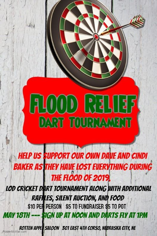 Flood Relief Dart Tournament for Cindi Baker at The Rotten Apple