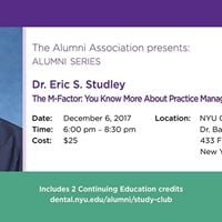 Alumni Association Alumni Series Dr. Eric Studley