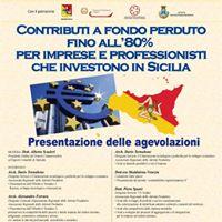 Convegno sui contributi a fondo perduto alle imprese siciliane