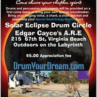 Solar Eclipse Drum Circle at Edgar Cayces A.R.E 1-4PM
