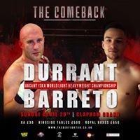 The Big Fight UK Durrant vs Barreto