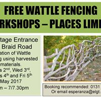 Free Wattle Fencing at Hermitage of Braid