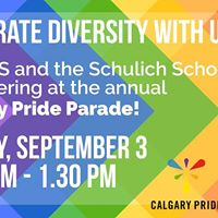 Walk with Schulich and ESS in Calgary Pride Parade