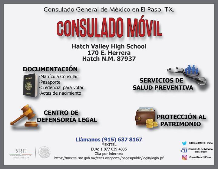 Consulado Móvil en Hatch, Nuevo México at 170 E Herrera Rd, Hatch ...