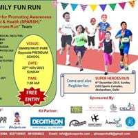 KIDS &amp FAMILY FUN RUN Organized by Society for Promoting Awareness Regarding School &amp Health (SPARSH)  AND  Super Heroes Run Team