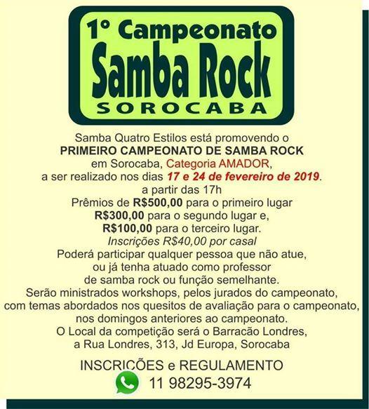 Primeiro Campeonato de Samba Rock em Sorocaba