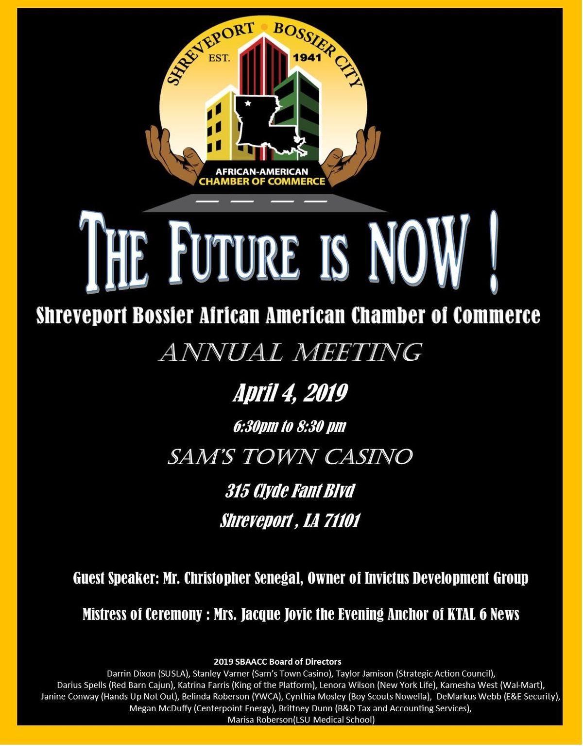 2019 SBAACC Annual Meeting at Sam's Town Hotel & Casino