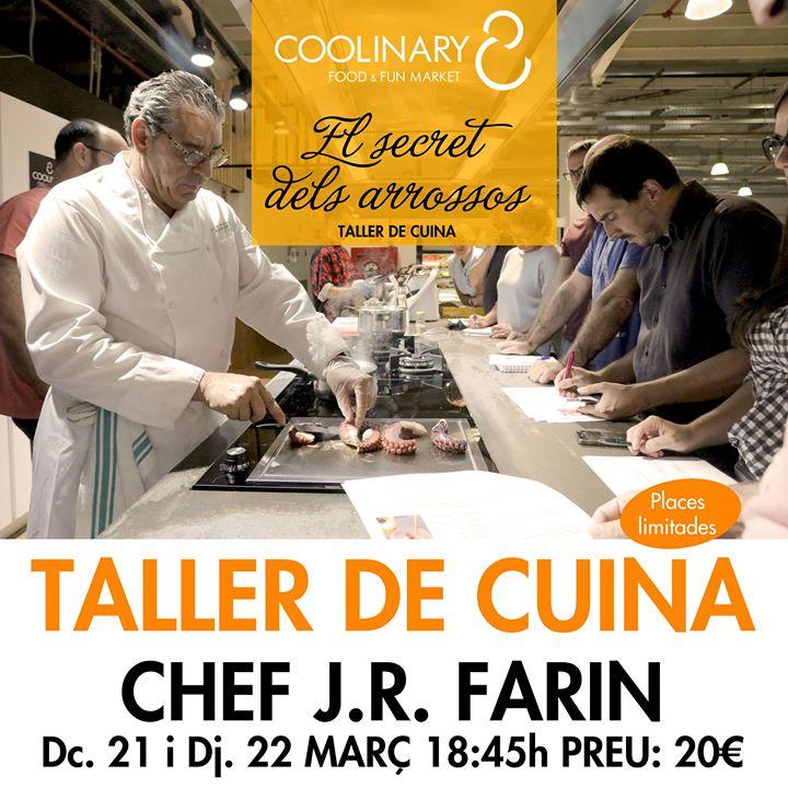 Taller de cuina Chef J.Farin El secret dels arrossos