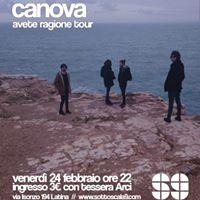 Canova  Latina Sottoscala9  Avete Ragione Tour  LeMore