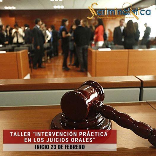 Curso Taller Intervención Práctica En Los Juicios Orales