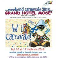 Weekend carnevale GRAND HOTEL MOSE Animazione E Divertimento