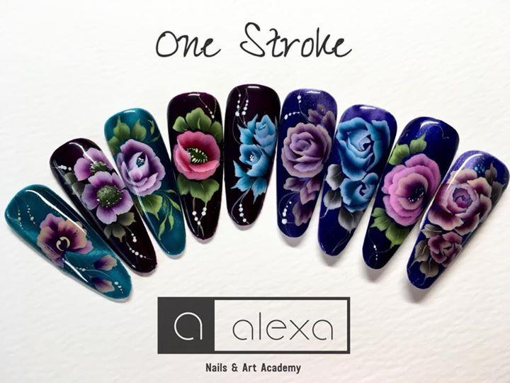 One stroke level 2 nail art course - One Stroke Level 2 Nail Art Course At Alexa Nails & Art Academy