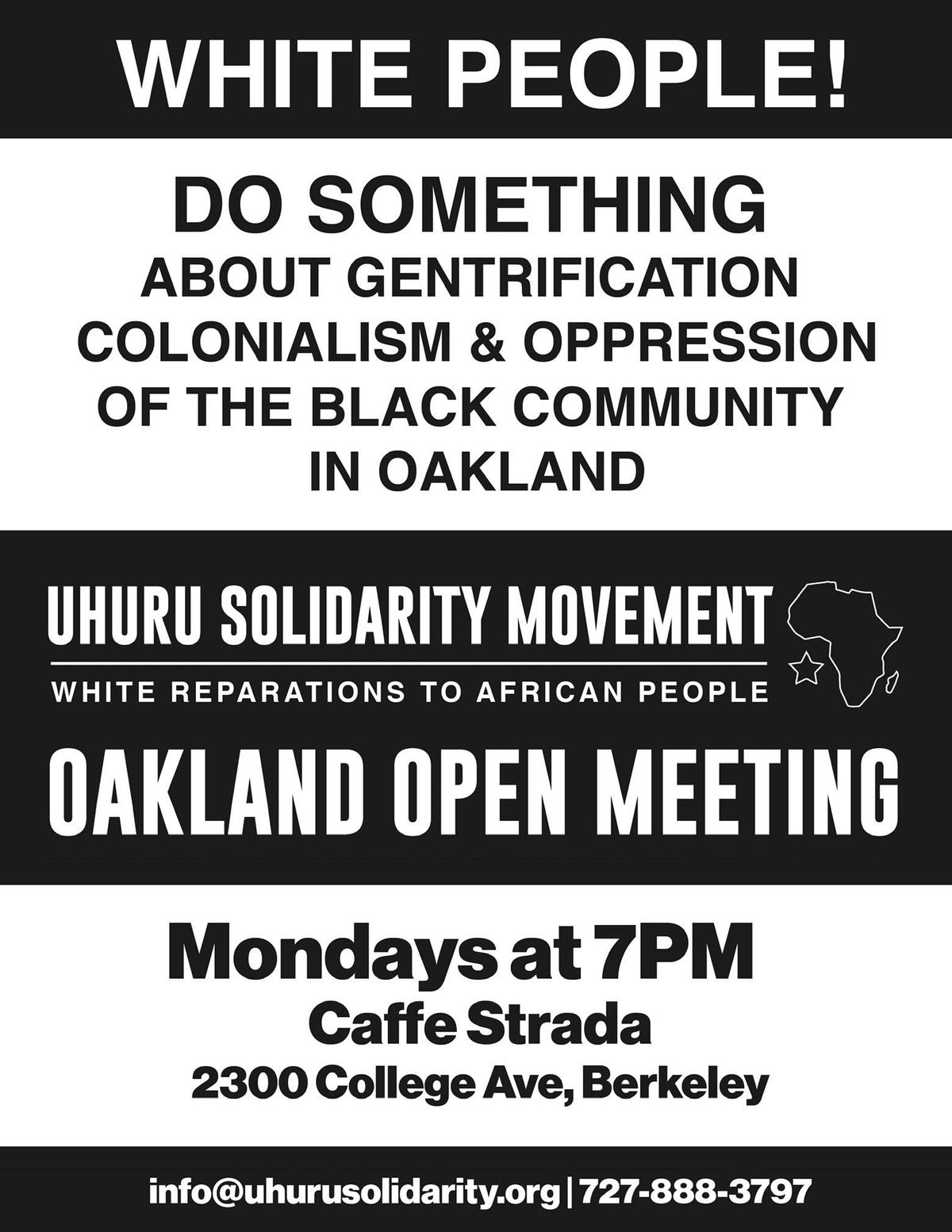 Uhuru Solidarity Movement Oakland Open Meeting