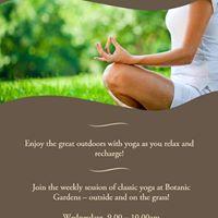 Yoga at Botanic Gardens