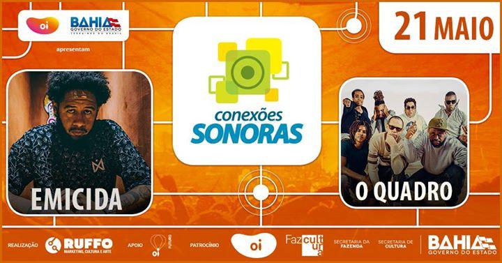 Resultado de imagem para Conexões Sonoras apresenta Emicida e OQuadro