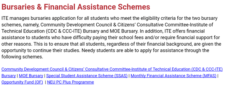 Bursary Application period for January Intake Students