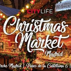 German Christmas Market (Weihnachtsmarkt) in Madrid Centre