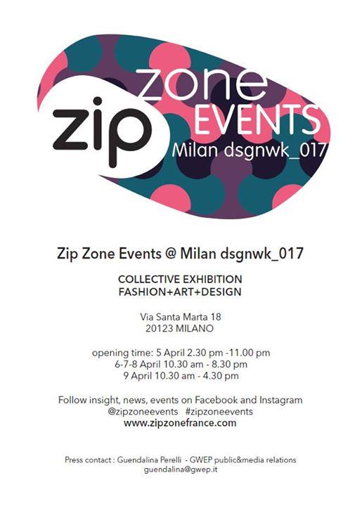 Zip Zone Events Milan Dsgnwk 2017
