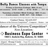 Bellydance Classes with Tonya at Golden West College