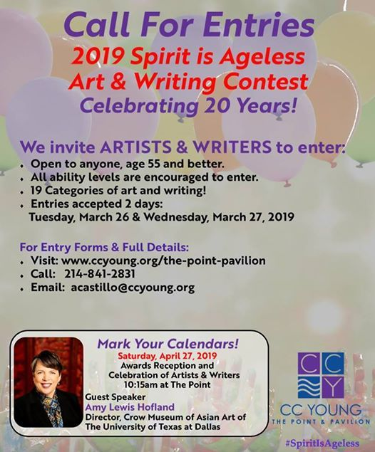 Call for Entries 2019 Spirit is Ageless Art & Writing Contest