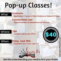 Pop-Up Classes Contracts and Con Law