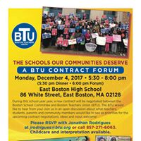 BTU Contract Forum In East Boston