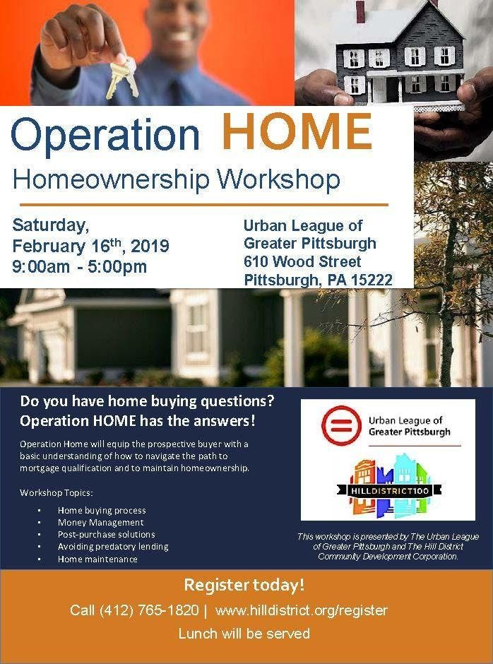 Hill CDC and Urban League of Pittsburgh Homeownership Workshop - February 2019