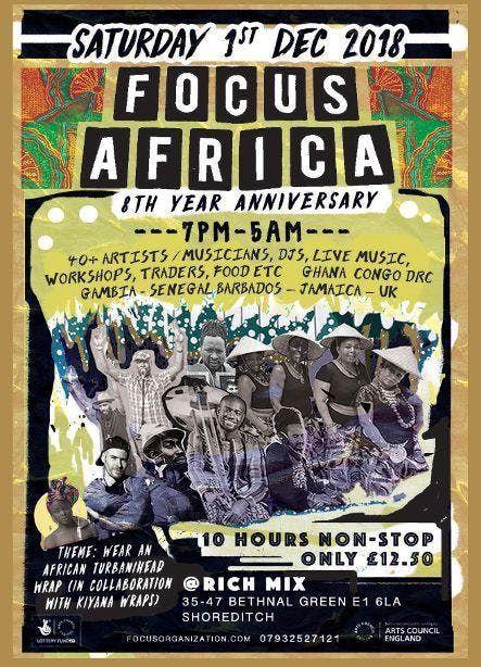 Focus Africa 8th Year Anniversary Ghana Congo Gambia Senegal UK