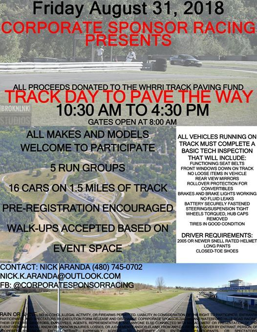 Track Day to Pave The Way