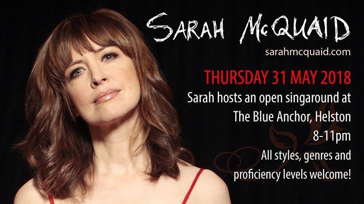 Sarah McQuaid hosts singaround at The Blue Anchor