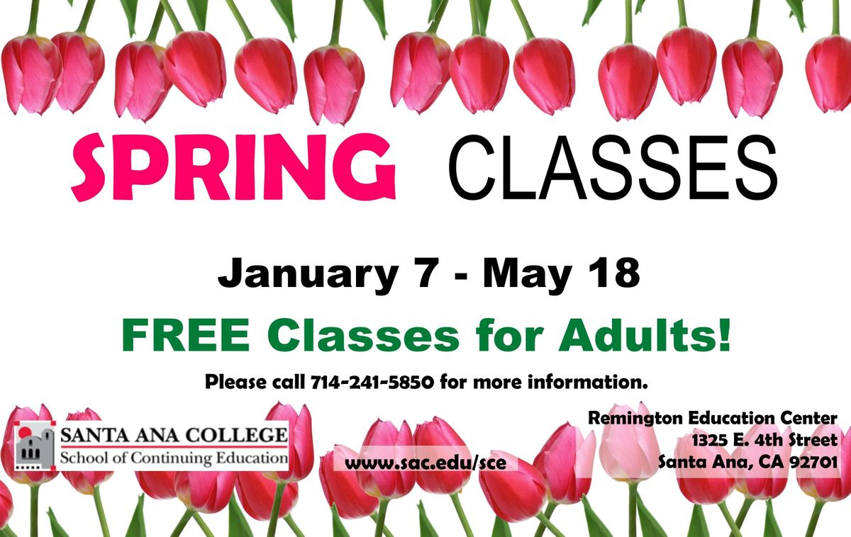 Free English Esl Classes For Adults At Sac Adult Education