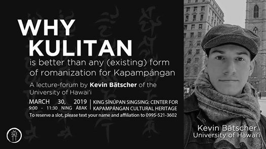 Lecture-Forum on Kapampngan Phonology & Kulitan