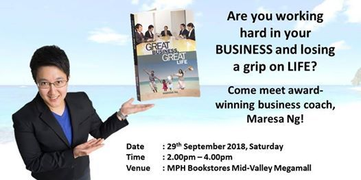 Meet Greet Session For The Book Great Business Great Life At