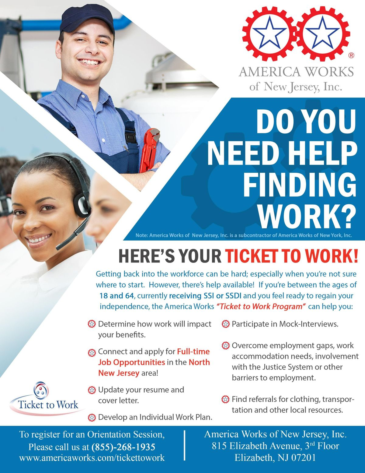 Do you need a job Are you receiving SSISSDI We can help