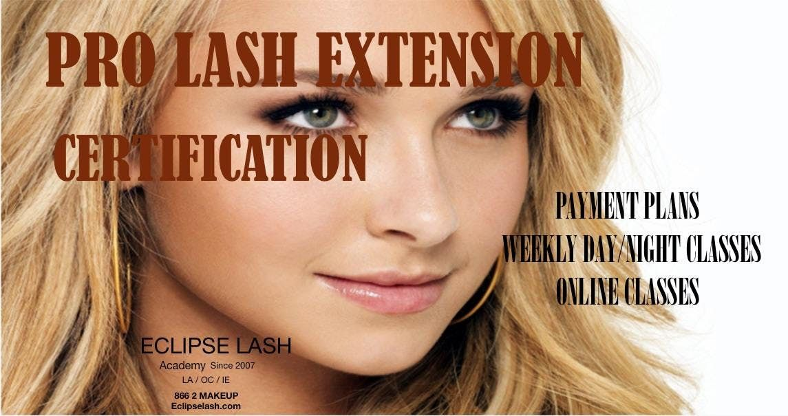 Eyelash Extension Certification Oc Financing Available Teaching