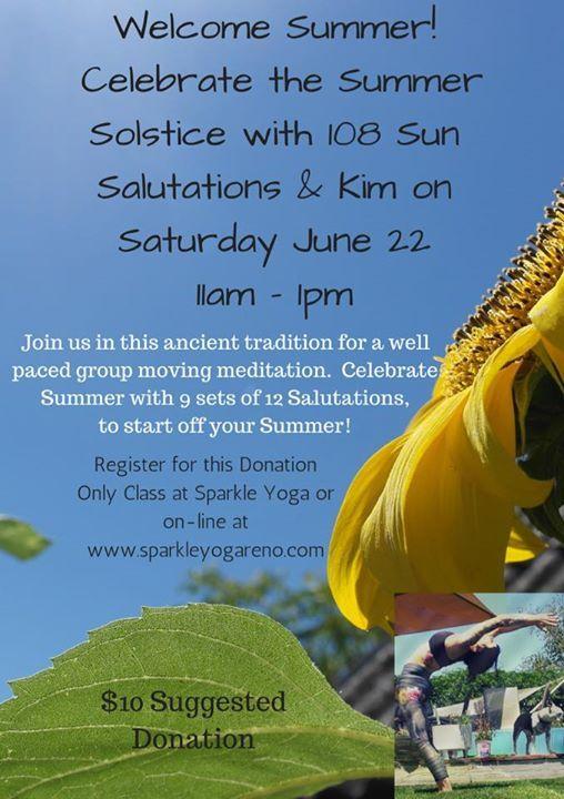 Summer Solstice Sandhills >> Summer Solstice 108 At Sparkle Yoga Reno