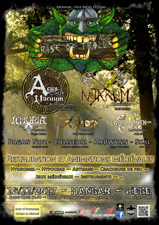 Rise Of Trolls - Medieval / Folk Metal Festival @ Liège