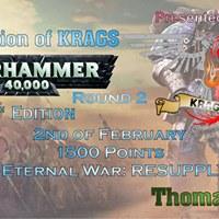 Round 2 of KRAGS Champion of Warhammer 40000 2018