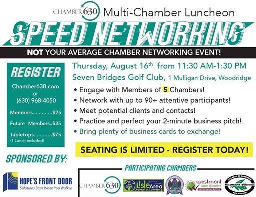 Multi chamber speed networking progressive luncheon at seven bridges multi chamber speed networking progressive luncheon reheart Image collections