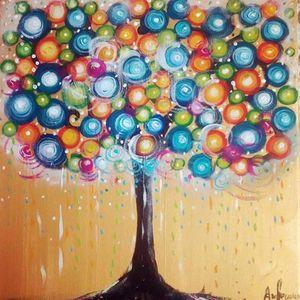 ArtNight Tree of Life am 25042019 in Freiburg