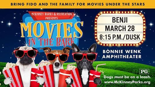 Movies In The Bark Benji At Bonnie Wenk Park Mckinney