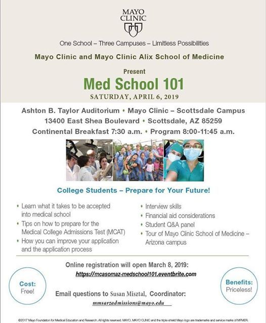 Med School 101, in Arizona at Mayo Clinic Building Scottsdale