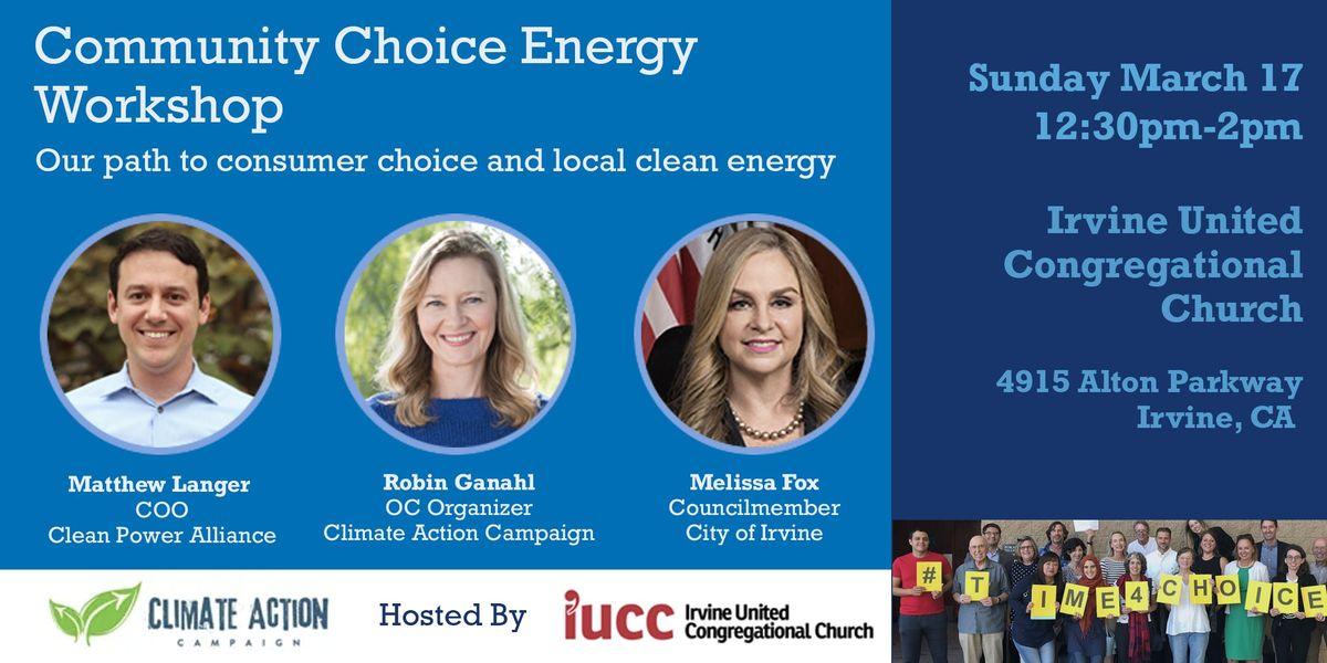 Irvine Community Choice Energy - Community Workshop