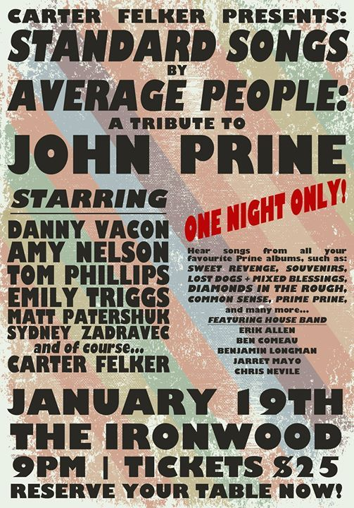 Standard Songs By Average People A Tribute to John Prine