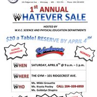 1st Annual WK Whatever Sale