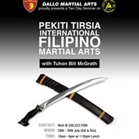 Weaponry Seminar with Tuhon Bill McGrath