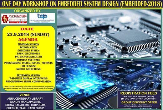 One Day Workshop on Embedded System Design (EMBEDDED-2018)