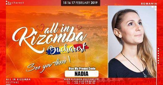 Bucharest All In Kizomba Festival 2019 - Promo Code NADIA