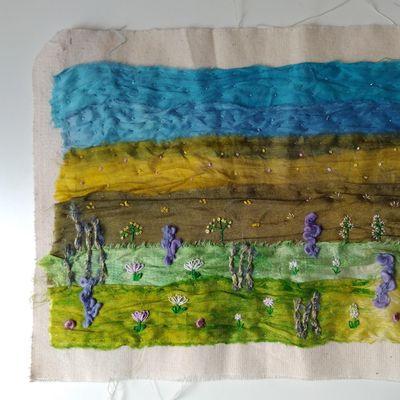 Hand Embroidered Landscapes Textile Workshop