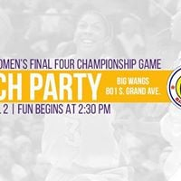 NCAA Womens Final Four Watch Party